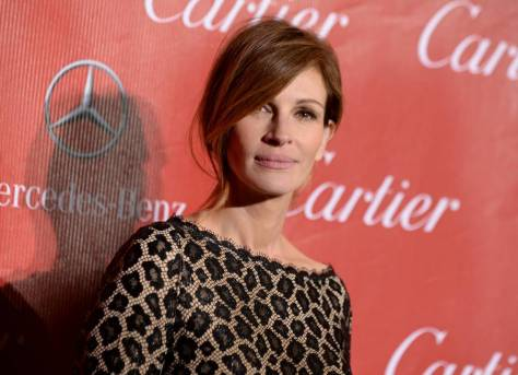 Grieving: Julia Roberts is using meditation to come to terms with her sister's death (Picture: AP)